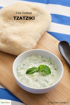 Low Fodmap Tzatziki – deliciously tangy and very easy to make. The perfect dip or accompaniment for your favourite grilled meats and sandwiches. Low Calorie Sauces, Low Calorie Recipes, Healthy Recipes, Healthy Foods, Free Recipes, Healthy Meals For Kids, Easy Meals, Tzatziki Recipes, Fodmap Recipes