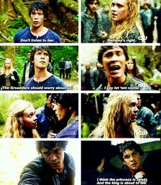 "The 100 - Bellamy and Clarke #Bellarke ""I think the princess is dead. And the King is about to die."""