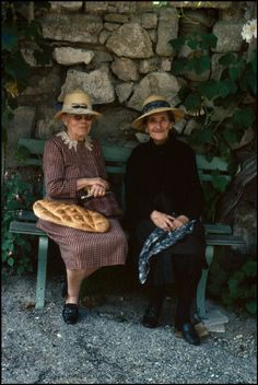 Martine Franck, Reillanne, France, 1977. This will be me and my best friend during retirement