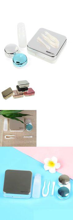 b32c2c9b07 Contact Lens Cases 110235: Caja Contenedora De Lentes Contacto Con Espejo  Solución Pinzas Para Viaje