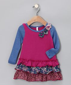 Take a look at this Fuchsia Drop-Waist Dress - Infant, Toddler & Girls by Banana Split by Hannah Banana on #zulily today!#fall