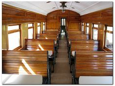 Glenbrook vintage railway dining cart New Zealand, Conference Room, Stairs, Dining, Vintage Trains, Table, Furniture, Cart, Canada