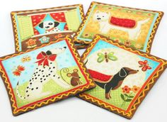 Must LOVE Dogs/Floating Flowers Cinnamon & by vickyscottagecrafts, $10.00