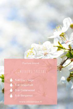 Wist je dat je gemakkelijk zelf een eigen parfum kunt maken? Je gebruikt hier enkel het moois uit de natuur voor en laat alle chemische stoffen staan.  Voeg de essentiële olie naar recept toe aan een rollerflesje en breng de parfum eenvoudig aan op de plekken die je gewend bent.  Naast een fijne geur zal je ook de therapeutische werking van de oliën ervaren.  Klik verder voor meer Parfum inspiratie en ga zelf aan de slag met leuke DIY. Clary Sage, New Fragrances, Young Living, Cosmetics, Table Decorations, Salvia, Dinner Table Decorations, Young Life, Makeup Geek
