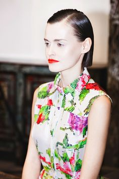 Ksenia Schnaider, SPRING/SUMMER 2015 GLITCHED VYSHIVANKA, pixel flower dress