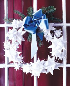 Paper-Star Wreath