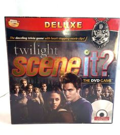 TWILIGHT Scene It Deluxe DVD Trivia Game NEW Sealed 4 Collectible Metal Tokens #ScreenLifeGames