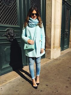 8d2b95bd1d Fashion, Thassia Naves, Blue, Zara, Valentino Casaco Azul Claro, Jaqueta  Azul