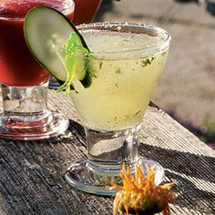 106 Days of Summer, Day 4: Mix a Summer Cocktail! Punch bowls and drink dispensers rule gatherings this summer. Mix up a batch of Cucumber Margaritas at your next party. Get the recipe - Coastal Living