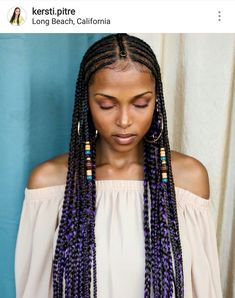 All styles of box braids to sublimate her hair afro On long box braids, everything is allowed! For fans of all kinds of buns, Afro braids in XXL bun bun work as well as the low glamorous bun Zoe Kravitz. My Hairstyle, Box Braids Hairstyles, African Hairstyles, Girl Hairstyles, Hairstyle Ideas, Protective Hairstyles, Teenage Hairstyles, Black Girl Braids, Girls Braids