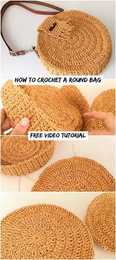 Crochet bags purses 669558669585385265 - How To Crochet A Round Bag – Crochetopedia Source by Crochet Round, Free Crochet, Knit Crochet, Crochet Handbags, Crochet Purses, Crochet Bags, Crochet Stitches, Crochet Patterns, Sewing Patterns