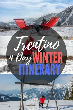 Trentino is a perfect choice for winter holidays in the Dolomites. Check out my perfect winter itinerary and all the great and fun winter activities you can indulge in Trentino. #trentino #trentinomta #italy #dolomites #dolomitemountains #winterholidays #wintersports #skiing #snowshoeing #travel #photography #travelphotography