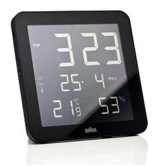 35cbd03ccfa Braun Digital Wall Clock - Black Dieter Rams