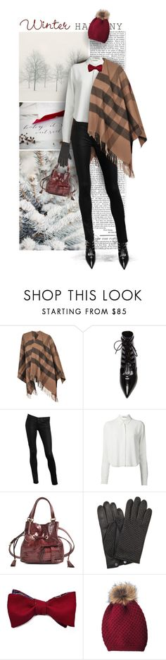 """182. Monnier Freres"" by auroram ❤ liked on Polyvore featuring Burberry, Yves Saint Laurent, GUESS, T By Alexander Wang, Lancel, AGNELLE and Inverni"