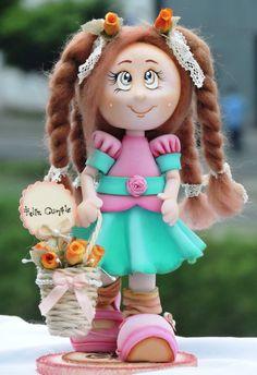 Mi niña Ma. Paula. Biscuit, Pasta Flexible, Love Me Forever, Art Plastique, Doll Clothes, Harajuku, Polymer Clay, Diy Crafts, Christmas Ornaments