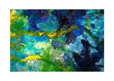 """Zoom a """"Corales de la isla"""" Tela sobre madera, pintada en un mixto de látex y acrílico."""