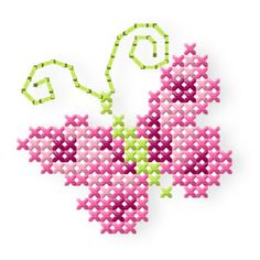 Butterfly & Roses - Butterfly & Roses (+Bonus Tender, romantic cross stitch roses, cute, sweet butterflies, and handwriting. Butterfly Cross Stitch, Mini Cross Stitch, Cross Stitch Borders, Cross Stitching, Cross Stitch Embroidery, Embroidery Patterns, Hand Embroidery, Cross Stitch Patterns, Cross Stitch Pictures