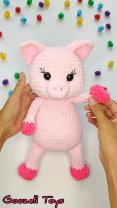 Crochet animals 249598004335583776 - CROCHET PIG PATTERN – Amigurumi pattern pig toy – Stuffed Pig toy Pdf pattern – Plush toy – Crochet animal tutorial Source by hallosc Crochet Animal Patterns, Crochet Patterns Amigurumi, Amigurumi Doll, Crochet Animals, Crochet Pig, Crochet Dolls, Cute Pigs, How To Start Knitting, Stuffed Pig