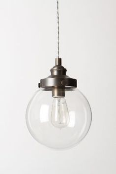 Love this for the kitchen! All lined up.... lOVE! Mariner's Globe Pendant