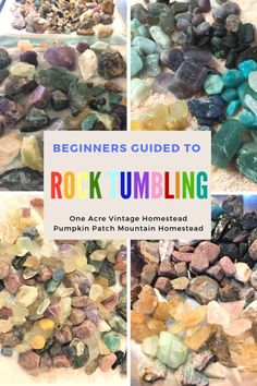 Guide to Rock Tumbling ⋆ One Acre Vintage & Pumpkin Patch Mtn. to learn hobbie Guide to Rock Tumbling ⋆ One Acre Vintage & Pumpkin Patch Mtn. Stone Crafts, Rock Crafts, Rocks And Gems, Rocks And Minerals, Crystals Minerals, Rock Tumbler Diy, How To Polish Rocks, Geode Rocks, Rock Tumbling