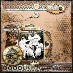 art and life: Vintage themed layout at Megs Garden by Heather Jacob