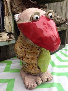 Keramiek vogel gemaakt door manlief.