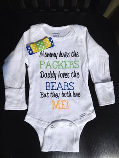 Divided Baby Onesie  Perfect for NFL MLB NHL by SimplySamanthaLee, $14.00 MUST get this for my parents!