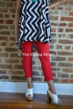 Red Capri Skinnies – The ZigZag Stripe. Use coupon code ZZS72 to save 10%, and shipping is free! http://www.zigzagstripe.com?afmc=ZZS72