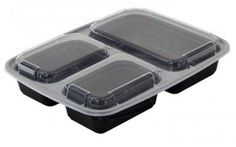 3- Compartment-Freezer-Food-Trays-Storage-Microwaveable-Dishwasher-Safe-10-Pac #Reditainer