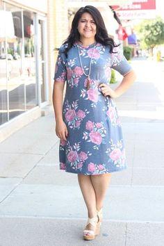 Charcoal Floral T-Shirt Dress