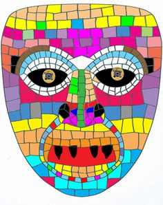 Xeroradiograph of mosaic mask
