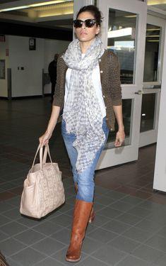 Eva Mendes Photos - Eva Mendes Arriving On A Flight At LAX - Zimbio