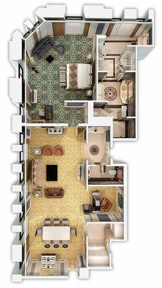 House Plans Mansion, Sims House Plans, House Layout Plans, Dream House Plans, House Layouts, House Floor Plans, House Floor Design, Bungalow House Design, Modern House Design