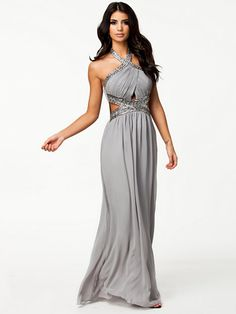 Wrap Front Dress - Little Mistress - Silber - Partykleider - Kleidung - Damen - Nelly.de Mode Online