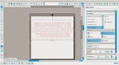 Silhouette Knockout Technique Tutorial (Part 1: Designing) ~ Silhouette School