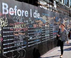 """""""The Brooklyn dream wall — the largest version of the project — conceals the mess as the Manhattan-based burger and ice cream chain prepares to open its first Brooklyn location in December. Retail Signage, Shake Shack, Large Format Printing, Fence Art, Retail Windows, Dream Wall, Before I Die, Helping The Homeless, Expo"""