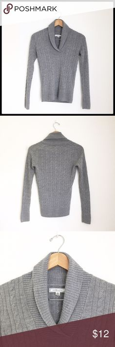 G.H. Bass &Co. Sweater Shaw Collar Pullover Neckline Sweater. Excellent condition! Sweater had cable knit detailing! G.H. Bass & Co.  Sweaters