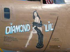 diamond lil airplane nose art
