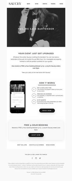 The Best Email Designs in the Universe (that came into my inbox) Email Template Design, Email Templates, Train Crafts, Email Design Inspiration, Men Coffee, Best Email, Wine And Spirits, Bartender, App