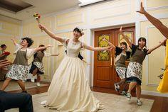 サプライズでダンスも♪ #Brideal #wedding #original #ordermade #ideas #fireworks #garden #green #ceremony #ブライディール #ウェディング #オリジナル #オーダーメイド #結婚式 #花火