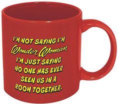 DC Comics Wonder Woman 'Not Saying' 20-Oz. Ceramic Mug