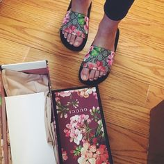 Gucci bloom slides Limited edition Gucci bloom slides. Bought from Gucci. Box, dust bag, Gucci documents included. Size 36. True to size. Shoes Sandals