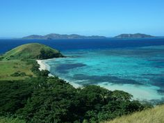 Fiji Mana Island, from the top of the hill