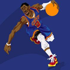 Kyrie Irving 'On Fire' Caricature Art