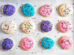Topped with rainbow sprinkles, these frosted sugar cookies are as soft and sweet as the ones you buy at the store, only more deliciously simple.
