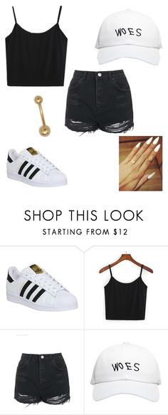 """""""Untitled #266"""" by millyandmolly ❤ liked on Polyvore featuring adidas, Topshop and October's Very Own"""