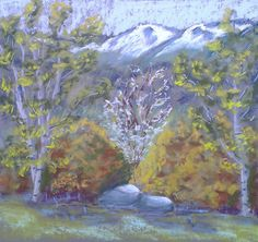 Sping in Pyrenees (South of France) en plein air http://poussieresdepastels.blogspot.com