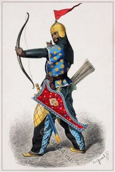 15th century Persian warriors archer