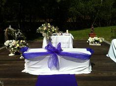 Decoración floral para altar. Boda civil