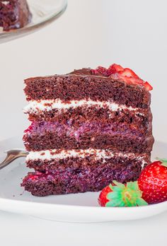 Chocolate Cake with Mixed Berry and Cream Cheese Filling | Jo Cooks
